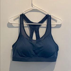 Dark blue sports bra